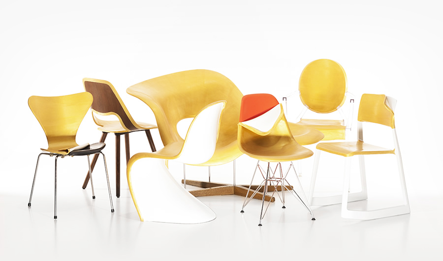 Safety First! – Golden rubber slipcovers for furniture (2013)