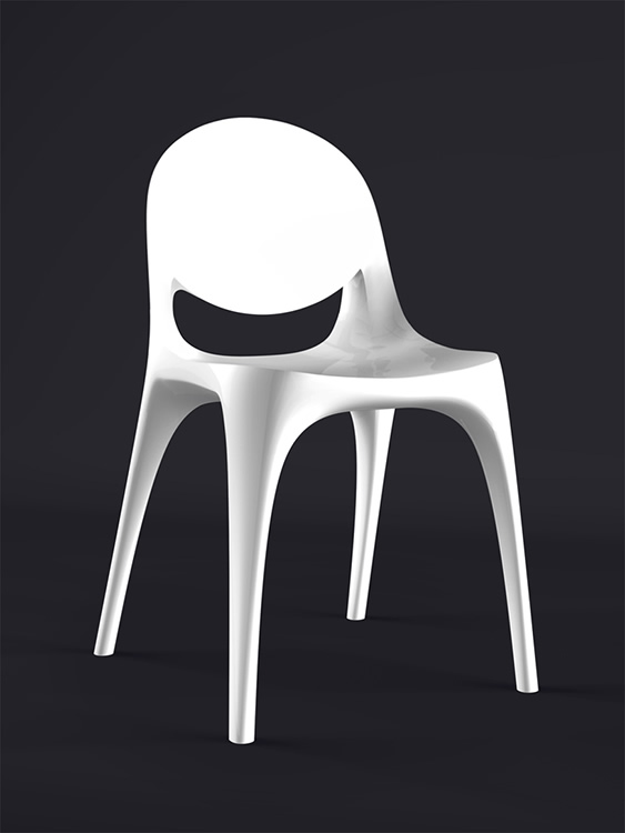 B1 Chair – 3D-printed chair from human bone matter (2013)